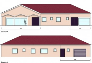 Akua 4Bed Bungalow Front Rear Elevations